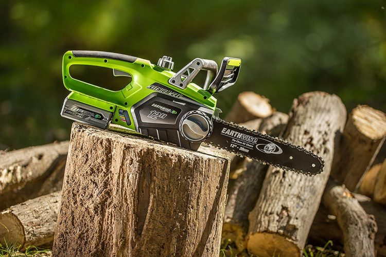 Earthwise cordless mini chainsaw