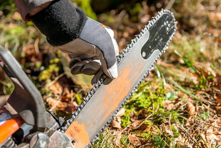 Replacing a chain after running through the best chainsaw sharpener